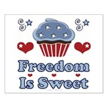 Freedom Is Sweet Americana Small Poster