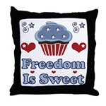 Freedom Is Sweet Americana Throw Pillow
