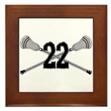 Lacrosse Number 22 Framed Tile