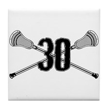 Lacrosse Number 30 Tile Coaster