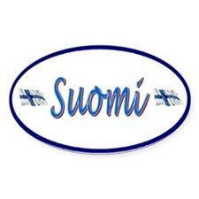 Suomi Auto Oval Decal