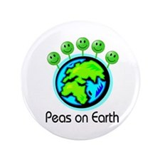 "PEAS ON EARTH 3.5"" Button"