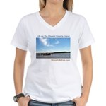 On The Chester River Women's V-Neck T-Shirt
