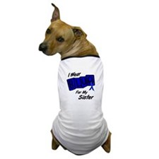 I Wear Blue For My Sister 8 Dog T-Shirt
