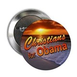 Christians for Obama 2.25&amp;quot; Button (sunset)