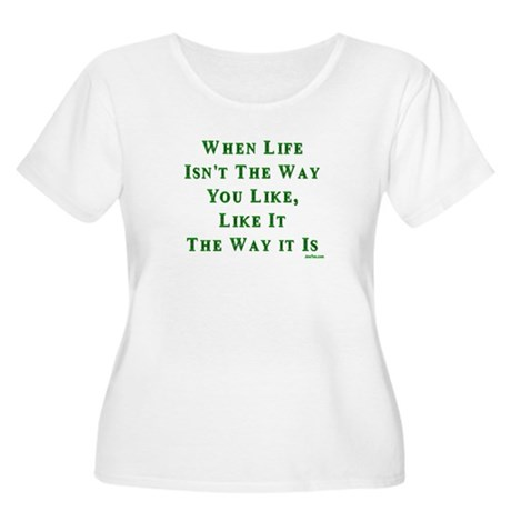 Like Life Jewish Sayings Women's Plus Size Scoop N