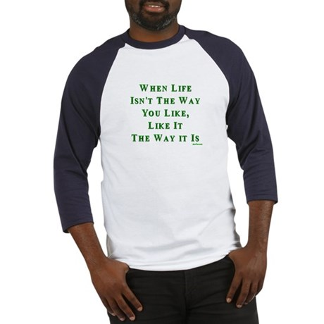 Like Life Jewish Sayings Baseball Jersey