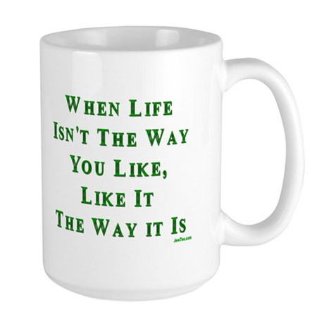 Like Life Jewish Sayings Large Mug