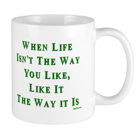 Like Life Jewish Sayings Mug