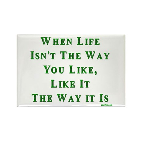 Like Life Jewish Sayings Rectangle Magnet