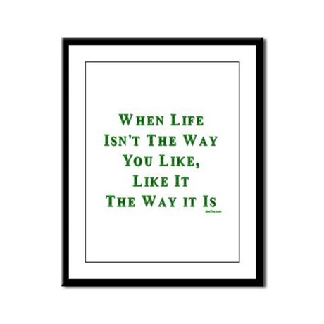Like Life Jewish Sayings Framed Panel Print