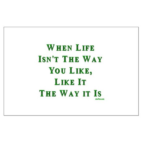 Like Life Jewish Sayings Large Poster