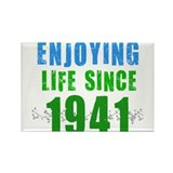 Enjoying Life Since 1941 Rectangle Magnet