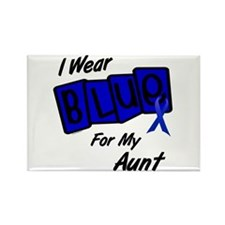 I Wear Blue Aunt Colon Cancer Rectangle Magnet