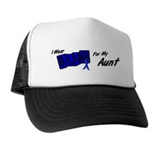I Wear Blue Aunt Colon Cancer Trucker Hat
