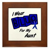 I Wear Blue Aunt Colon Cancer Framed Tile