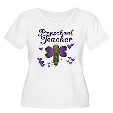 Butterfly Preschool Teacher T-Shirt
