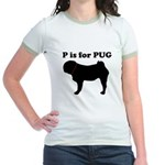 P is for PUG Ringer Tshirt