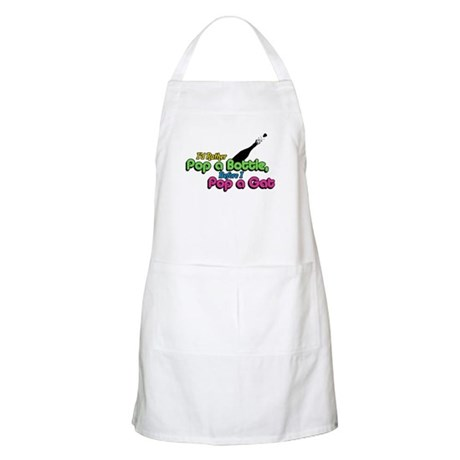 I'd Rather Pop a Bottle BBQ Apron