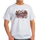 Cowsill 1960s Cartoon Ash Grey T-Shirt