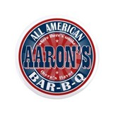 "Aaron's All American Barbeque 3.5"" Button"