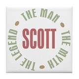 Scott Man Myth Legend Tile Coaster