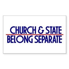 Church & State Belong Separat Sticker (Rectangular