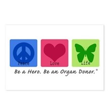 Peace Love Life Postcards (Package of 8)