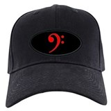Red Clef Blackout Baseball Hat