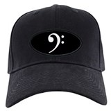Bass Clef Blackout Baseball Hat