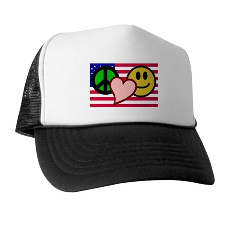 Peace Love Smile Trucker Hat
