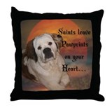 Saint Bernard Pup Throw Pillow