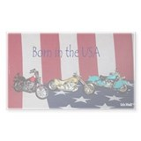 Born in the USA Rectangle Decal