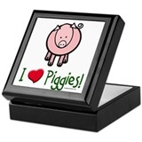 I heart piggies Keepsake Box