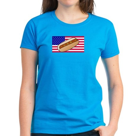 USA Hotdog Women's Dark T-Shirt