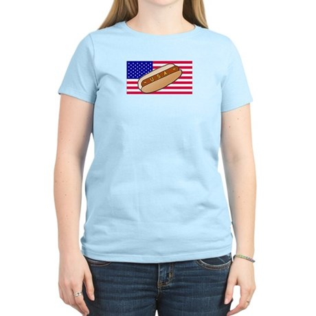USA Hotdog Women's Light T-Shirt