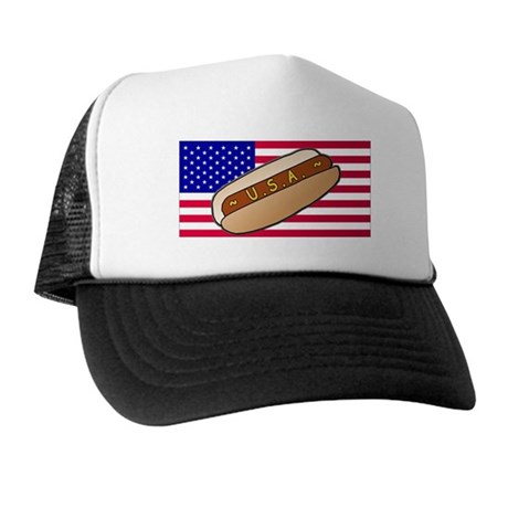 USA Hotdog Trucker Hat