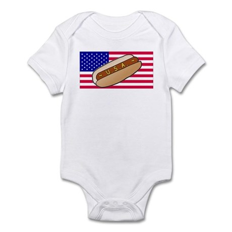 USA Hotdog Infant Bodysuit