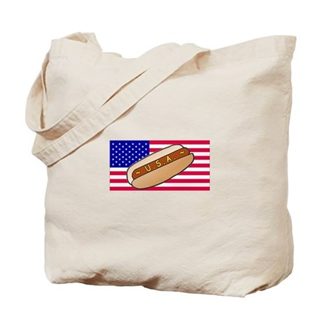 USA Hotdog Tote Bag