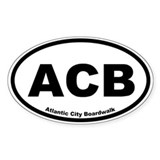 Atlantic City Boardwalk Oval Decal