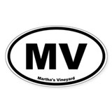 Martha's Vineyard Oval Decal