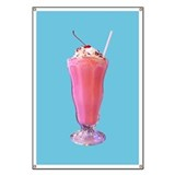 Strawberry Milkshake Banner