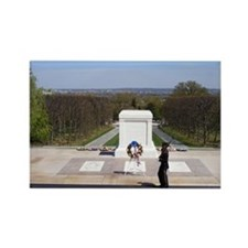 Funny National cemetery Rectangle Magnet