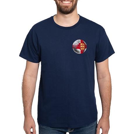Three Lions Football Dark T-Shirt