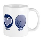 Peace Love Golf Mug
