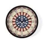 Antique Peace Flag Wall Clock