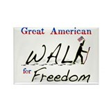Great American Walk for Freed Rectangle Magnet