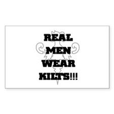 Real Men Wear Kilts Rectangle Decal