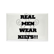 Real Men Wear Kilts Rectangle Magnet (10 pack)