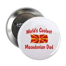"Coolest Macedonian Dad 2.25"" Button"